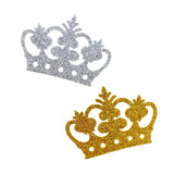 Glitter Foam Royal Crown Cut-outs, 2-3/4-Inch, 10-Count