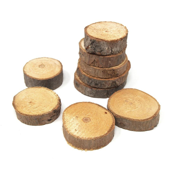 Rustic Round Natural Wood Slices, 2-Inch, 10-Count