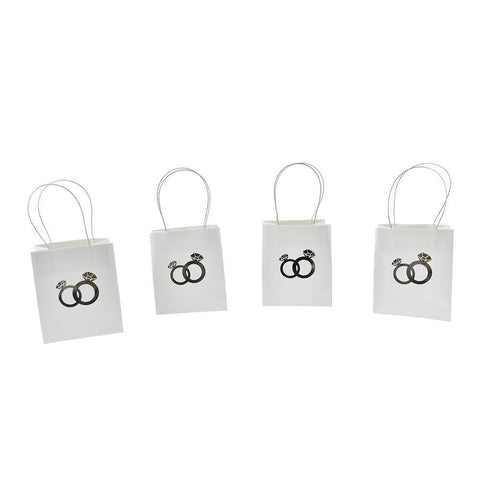 Foil Entwined Wedding Ring Favor Bags, 2-7/8-Inch,  4-Count