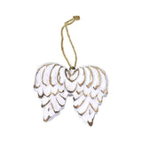 Wooden Wings Christmas Ornament, 4-1/2-Inch