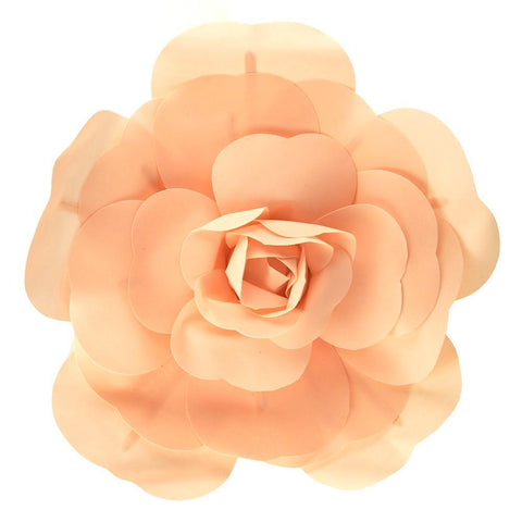 Rose Foam Wall Flower, Peach, 19-Inch