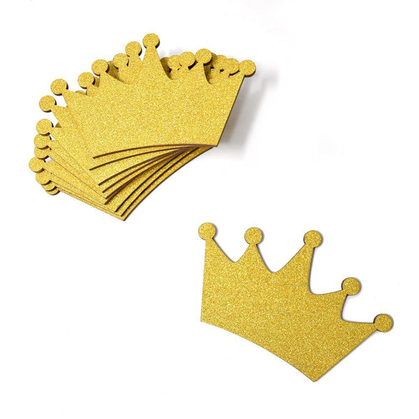 Large Crown Wooden Baby Favors, 4-1/2-Inch