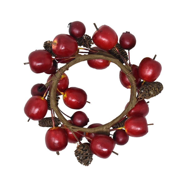 Autumn Apple Branch Candle Ring, 2-1/2-Inch
