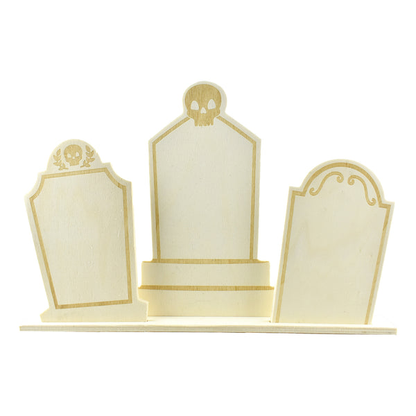 Graveyard Headstone Wooden Table Top Decoration, 9-1/4-Inch