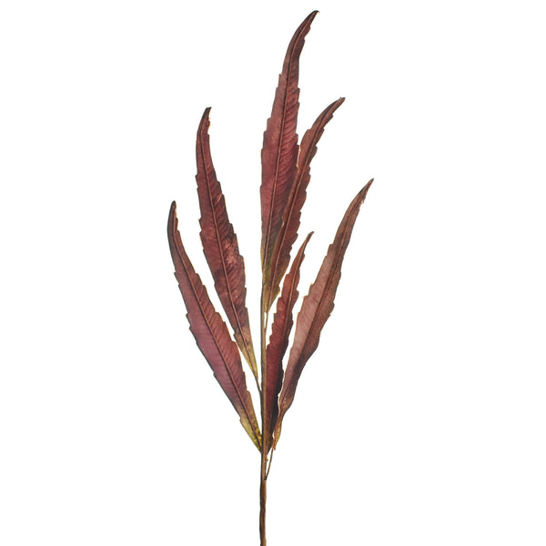Artificial Willow Leaf Stem, Mauve, 30-1/2-Inch