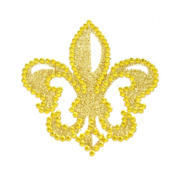 Fleur-De-Lis Diamond Sticker, 2-1/4-Inch, Gold