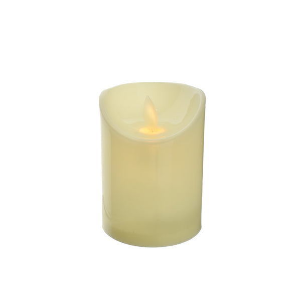 LED Plastic Swinging Flame Candle, 4-Inch