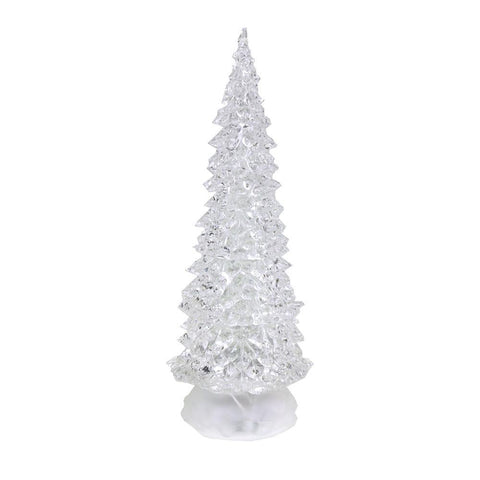 Acrylic Christmas Tree LED Light, Multi-Color, 12-inch