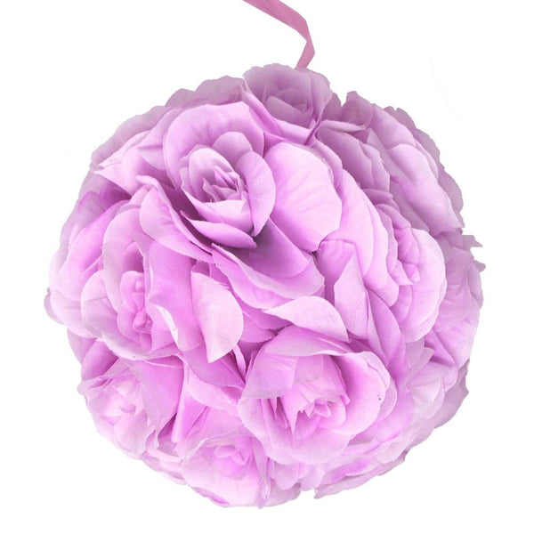 Silk Flower Kissing Balls Wedding Centerpiece, Lavender, 10-Inch