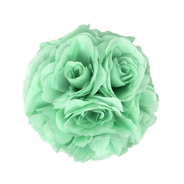 Silk Flower Kissing Balls Wedding Centerpiece, Mint, 6-Inch