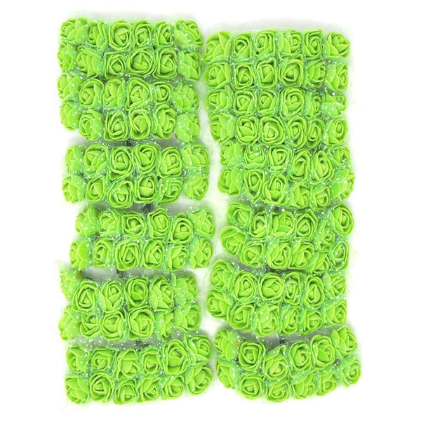 Foam Flower Picks with Bendable Stem, Apple Green, 3/4-Inch, 144-Count
