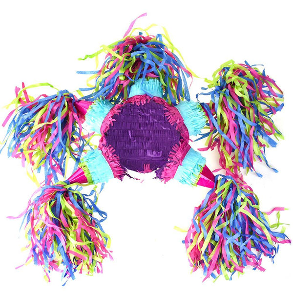 Colorful 6-Point Star Pinata, Multi Color, 22-Inch
