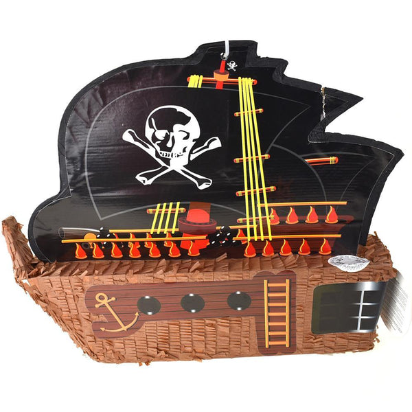 Pirate Ship with Sail Pinata, Brown, 20-1/4-Inch