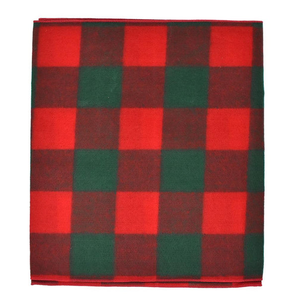 Felt Large Square Checkered Christmas Holiday Table Runner, 14-Inch, 6-Feet, Red/Green