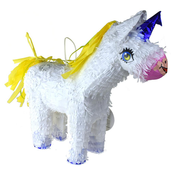 Unicorn Pinata, White, 19-Inch