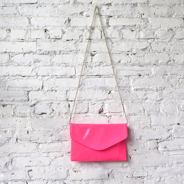 Patent Purse/Clutch: Neon Pink