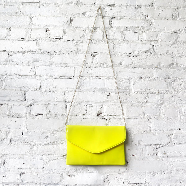 Patent Purse/Clutch: Neon Yellow