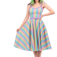 Pastel Rainbow Swing Dress
