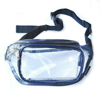 Clear Fanny Pack-Navy Trim