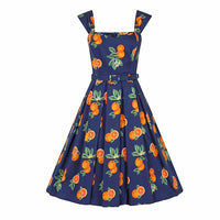 Juicy Orange Swing Dress