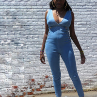 Stretch Denim Jumpsuit