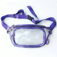 Clear Fanny Pack-Purple Trim