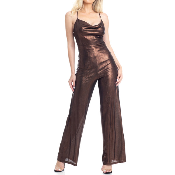 Bronze Metallic Jumpsuit