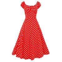 Red Polka Dot Swing Dress