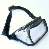 Clear Fanny Pack-Black Trim