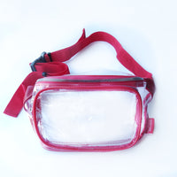 Clear Fanny Pack-Red Trim