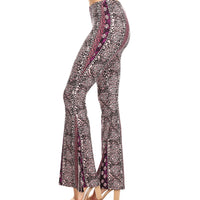 Tapestry Print Bellbottom in Purple