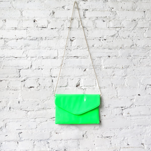 Patent Purse/Clutch: Lime