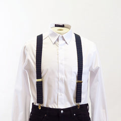 Navy Green and Grey Dotted Suspenders