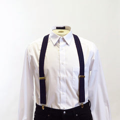 Navy Thin Stripe Suspenders