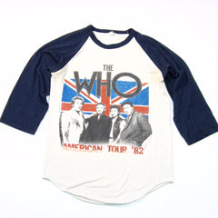 "1982 The Who ""American Tour"" Baseball T-Shirt"