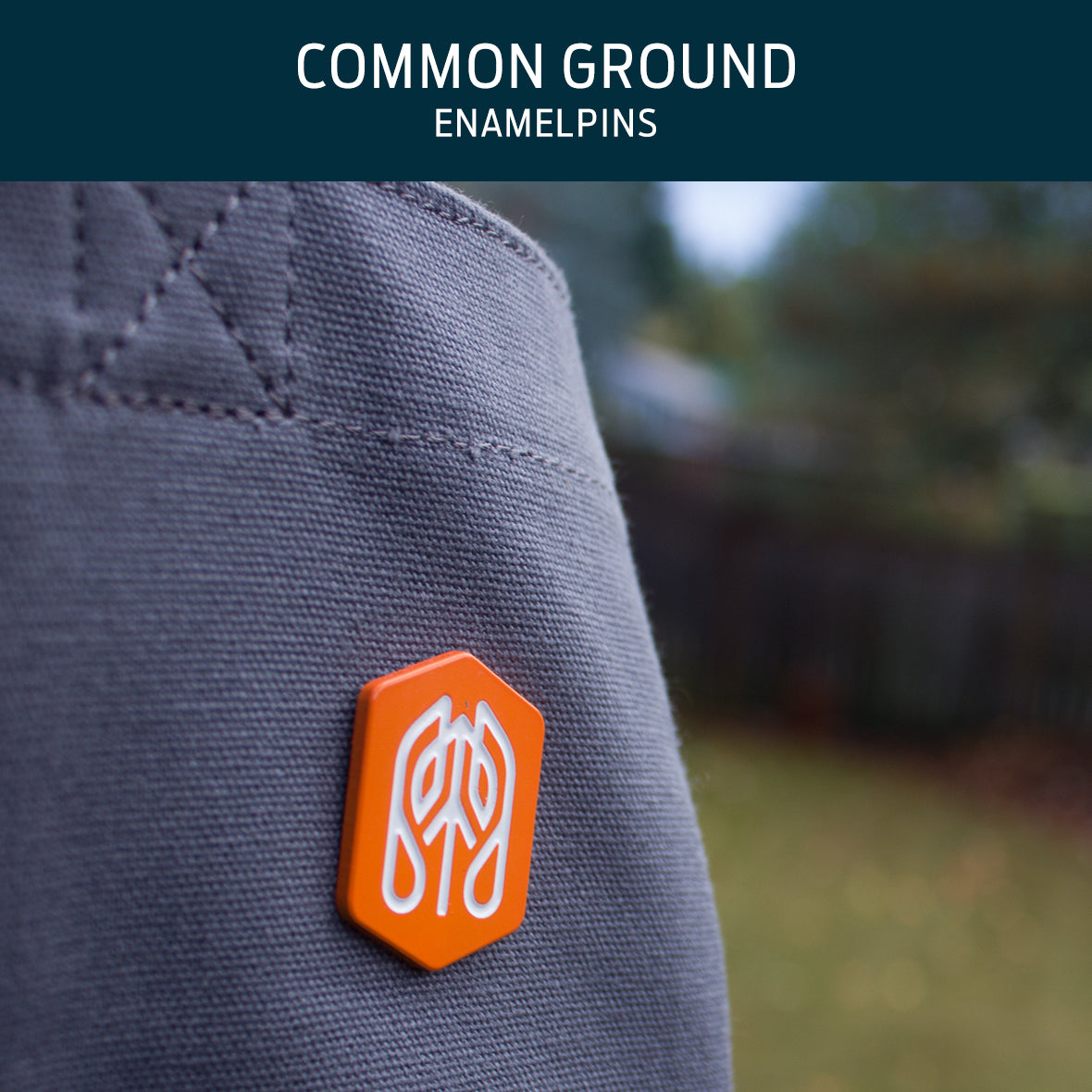 Common Ground Enamel Pins