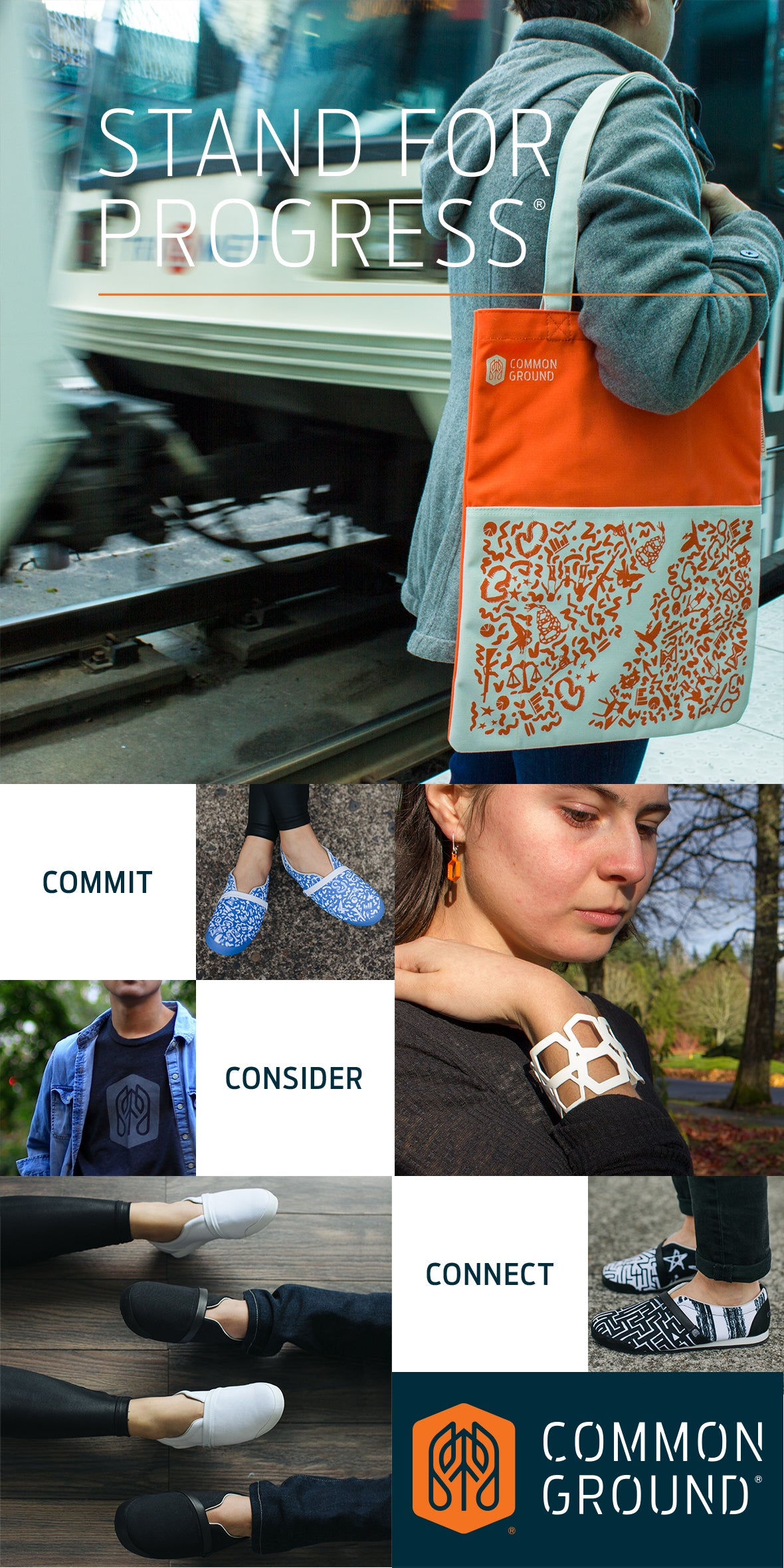 Common Ground Footwear, Apparel, Bags, and Jewelry | Inspire Empathy | #ProgressLooksLike