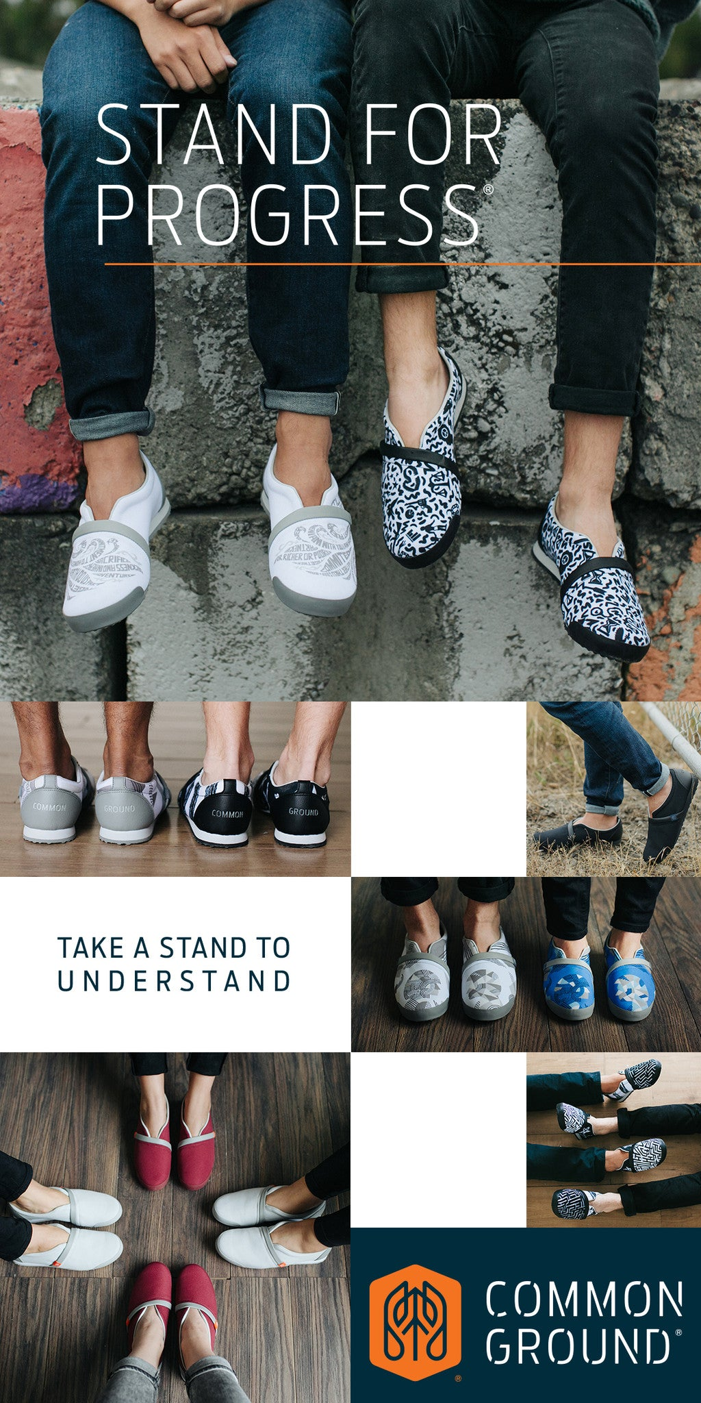 Stand for Progress in Common Ground Footwear | #ProgressLooksLike