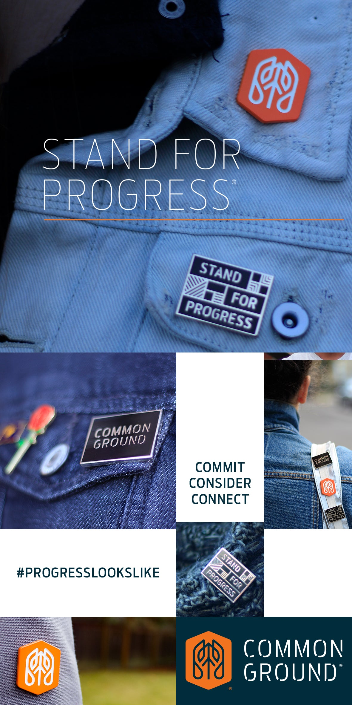 Common Ground Footwear | Enamel Pins | #ProgressLooksLIke