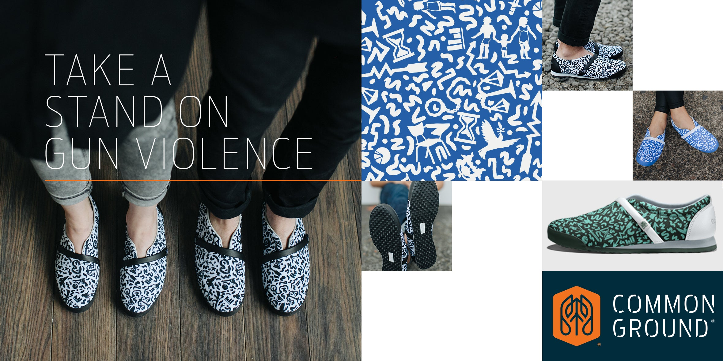 Common Ground Footwear | Gun Violence Collection | #StandForProgress