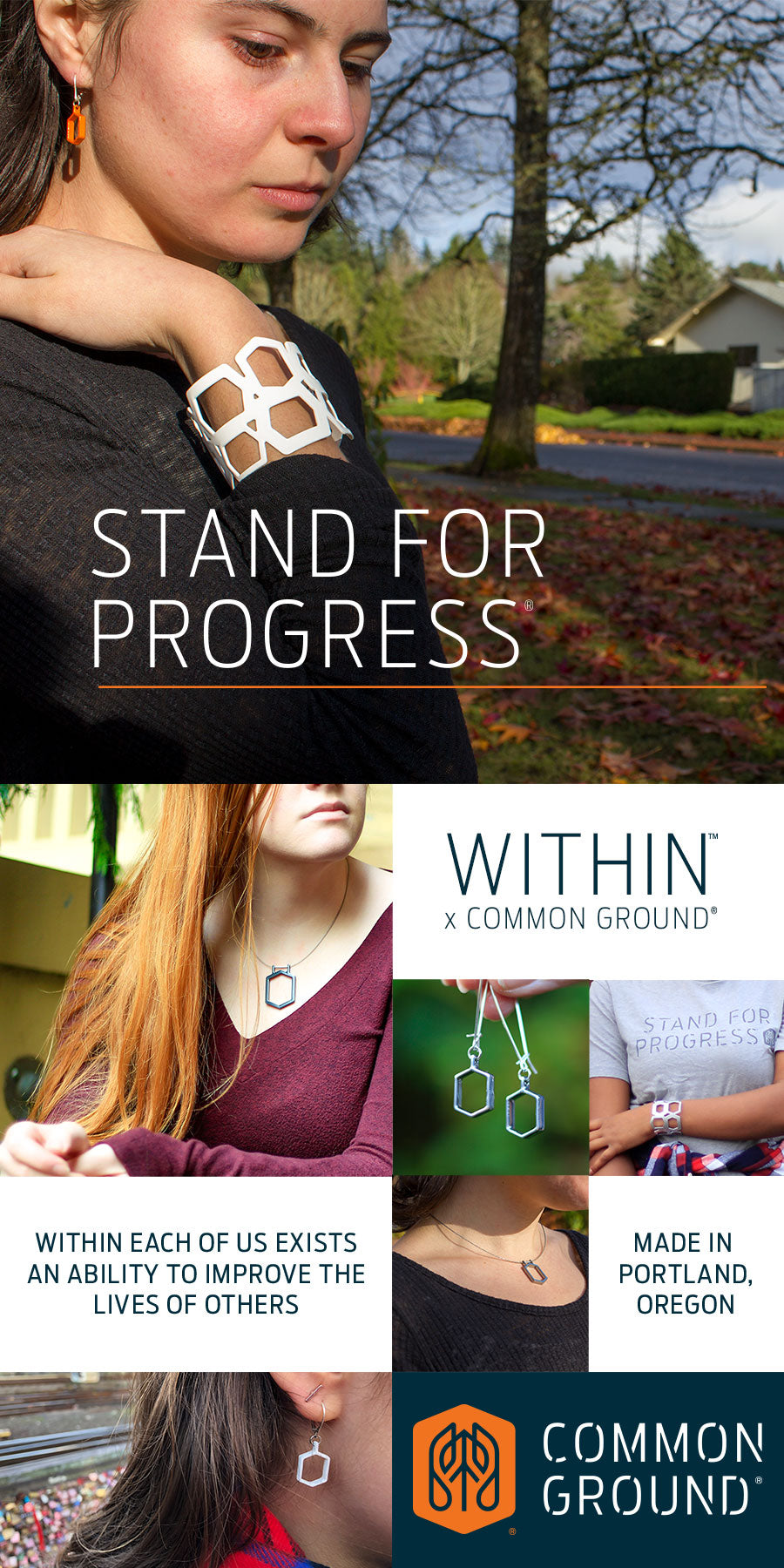 Common Ground Jewelry | Portland Oregon USA | Stand For Progress