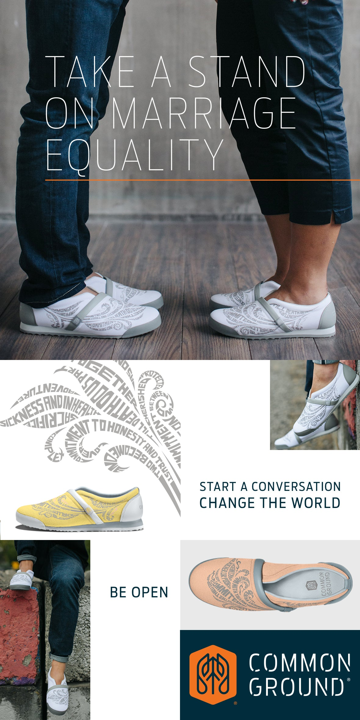 Common Ground Footwear | Marriage Equality | #StandForProgress