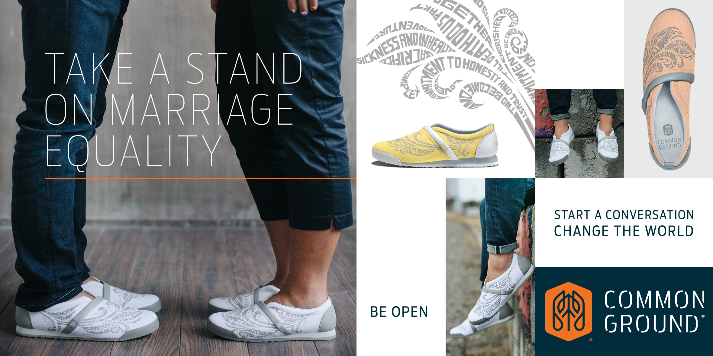 Common Ground Footwear | Marriage Equality Collection | #StandForProgress