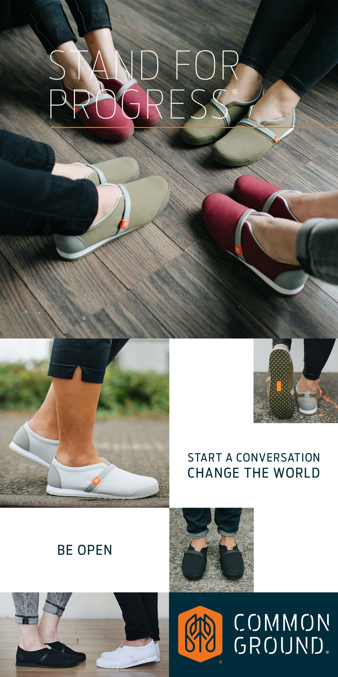 Common Ground Footwear | Progress Collection | #StandForProgress