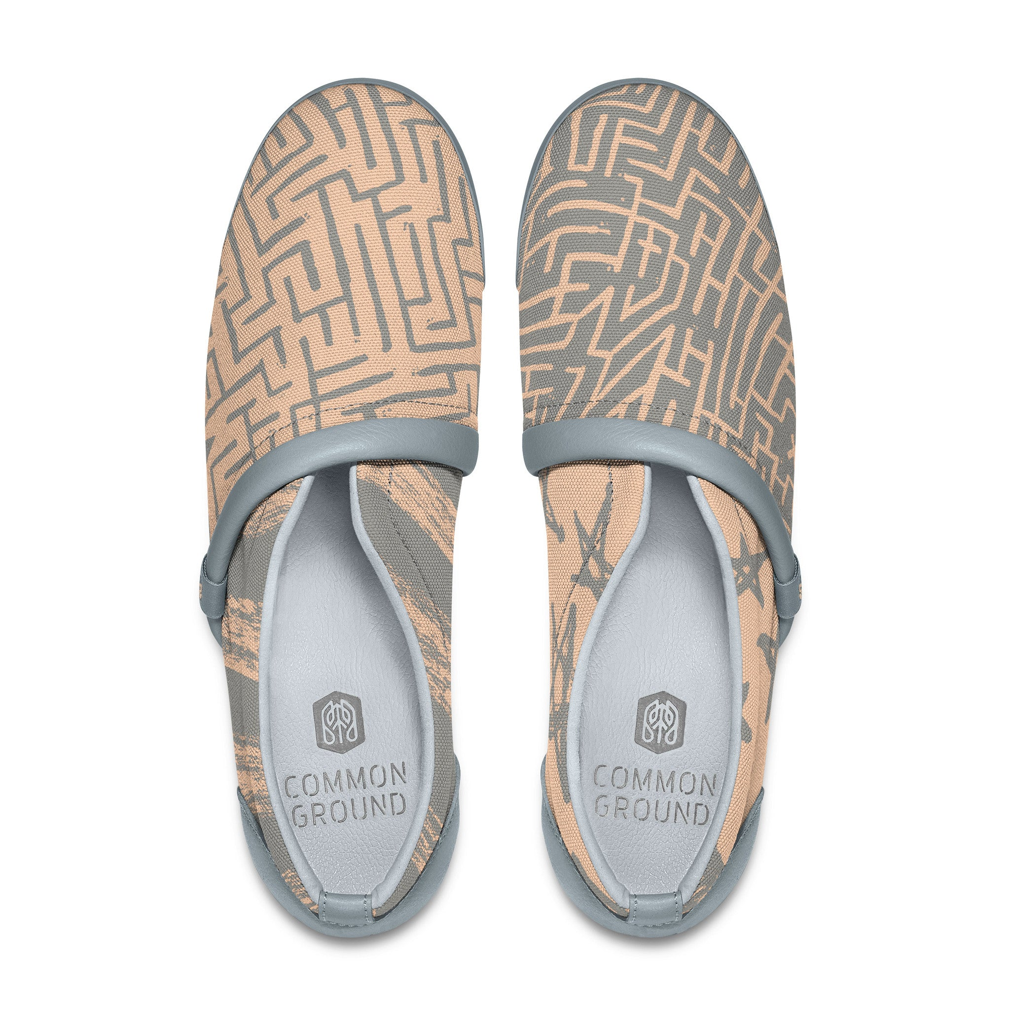 Bleached_Apricot - Common Ground Footwear Shoes Top View