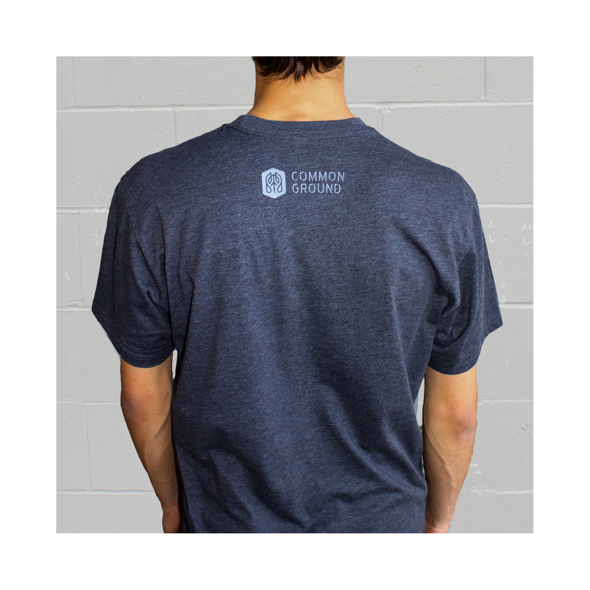 Charcoal - Stand For Progress T shirt Back on Model