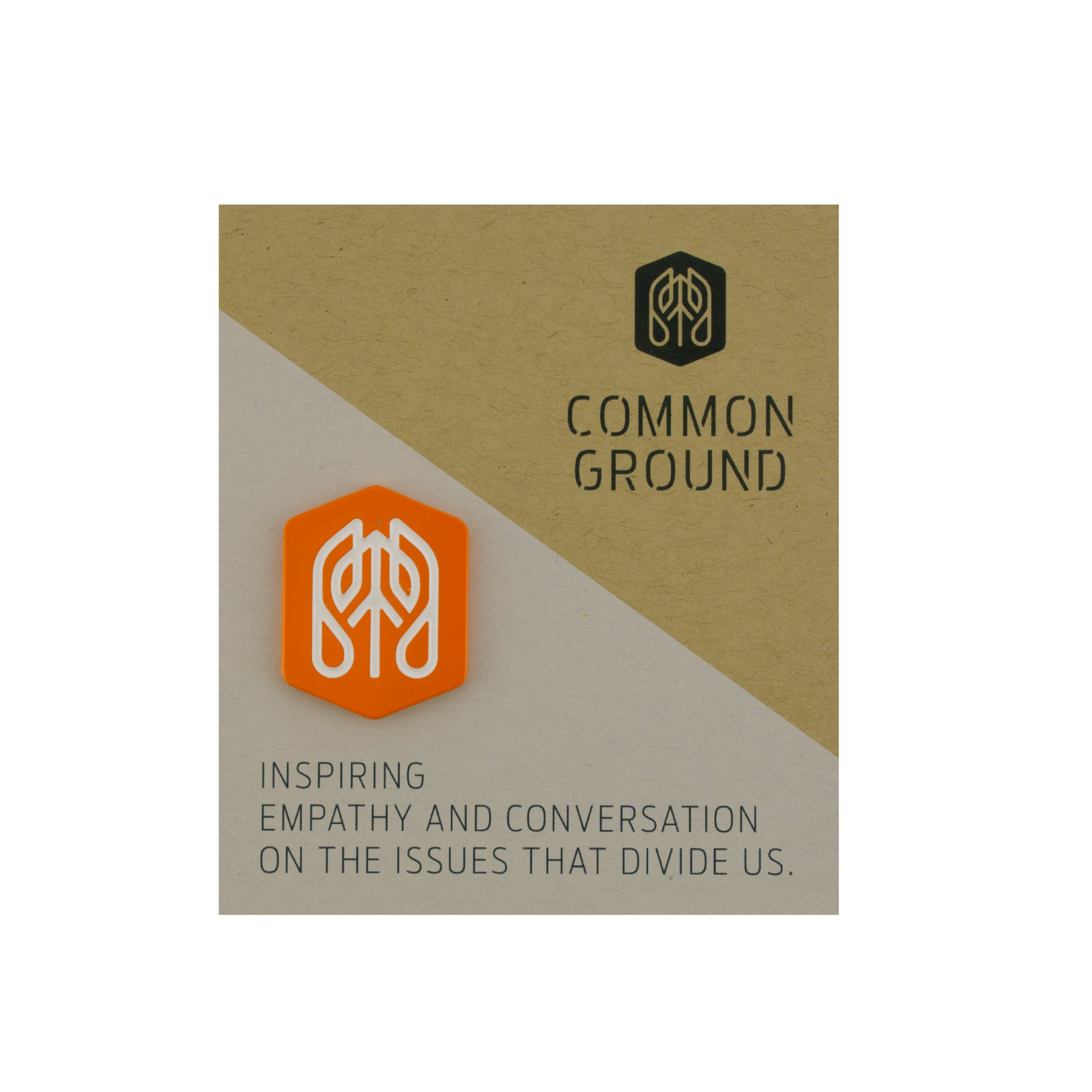Vibrant_Orange - Common Ground Badge Pin Card View
