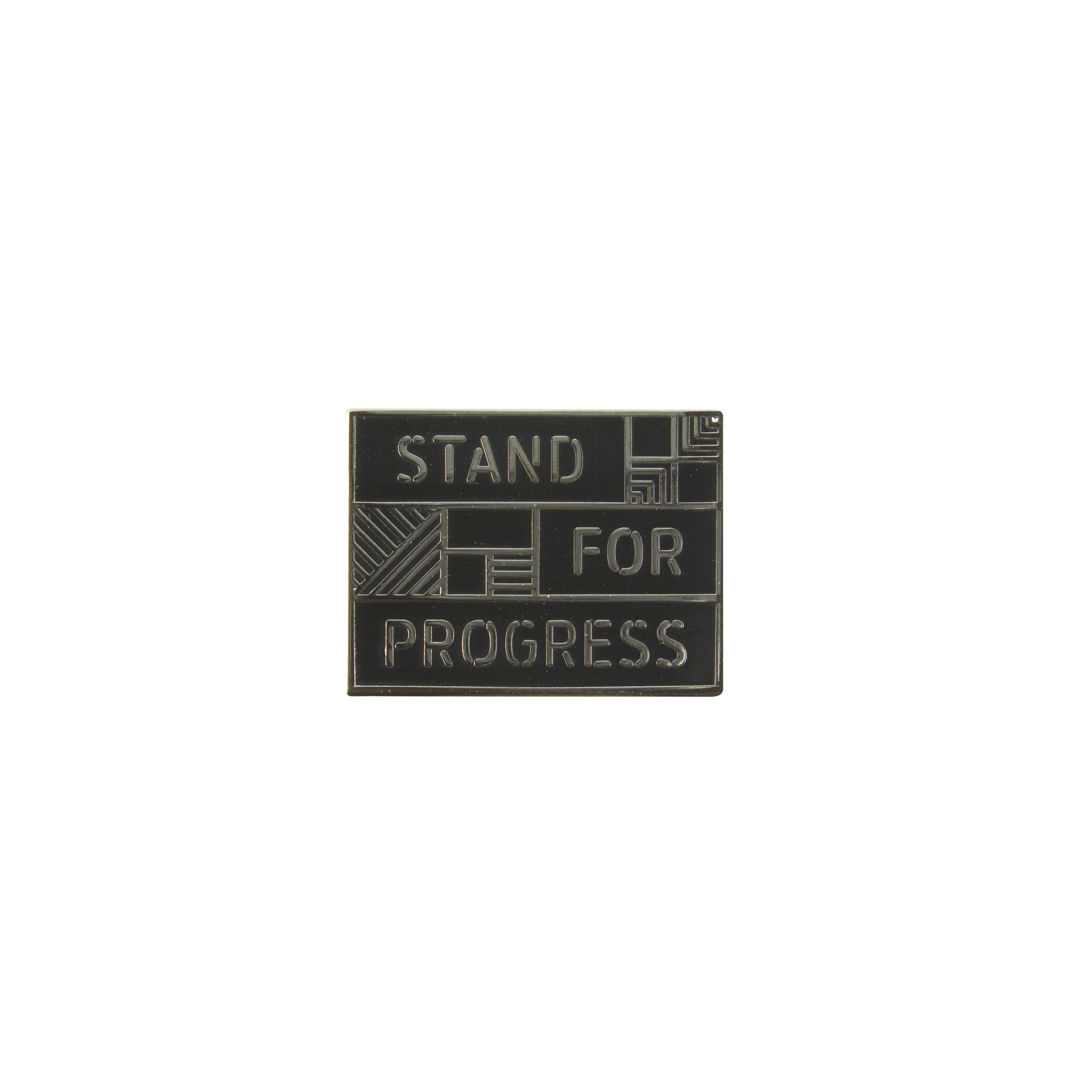 Jet_Black - Stand For Progress Pin Front View