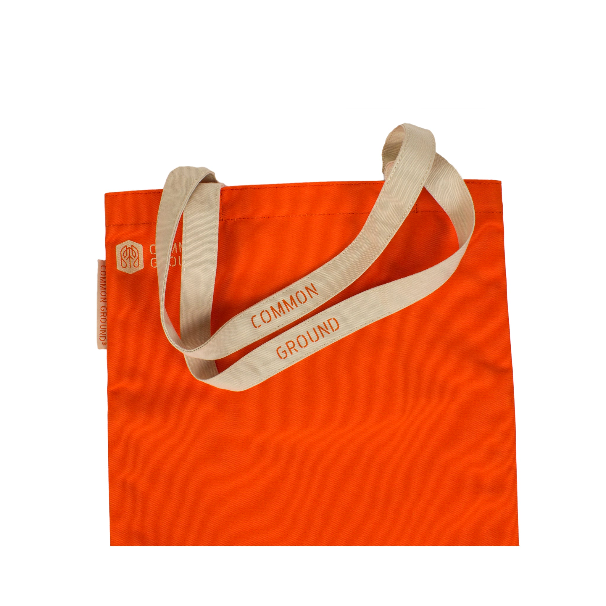 Vibrant_Orange - Common Ground Reading Tote Strap View