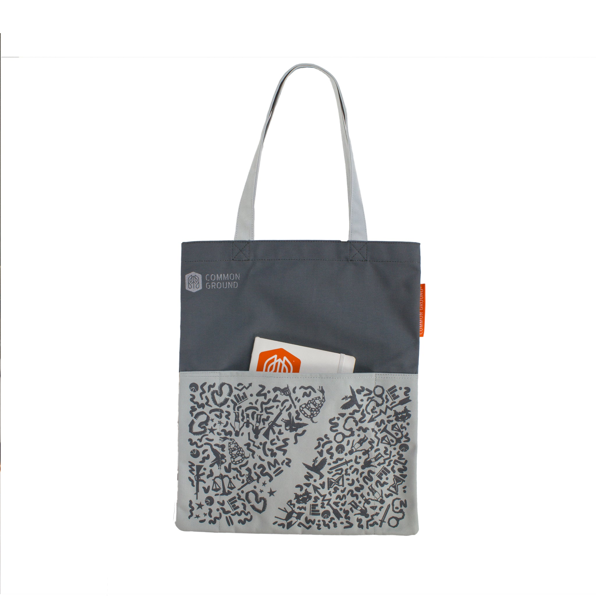 Castle_Rock - Common Ground Reading Tote Front External Pocket View